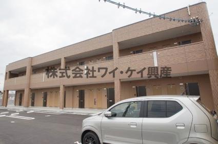 岡山県倉敷市、西阿知駅徒歩16分の新築 2階建の賃貸アパート
