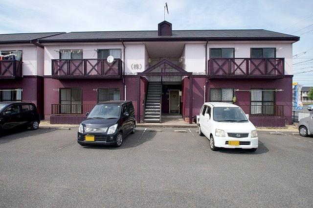 岡山県倉敷市、倉敷駅バス11分NTT水島水島第一病院前下車後徒歩11分の築23年 2階建の賃貸アパート