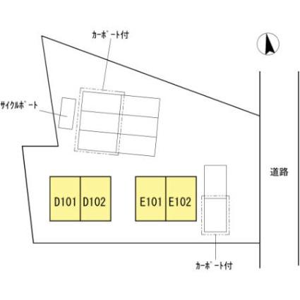 岡山県真庭市鍋屋[3LDK/83.65m2]の配置図