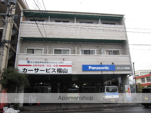 広島県福山市、松永駅徒歩5分の築29年 3階建の賃貸アパート