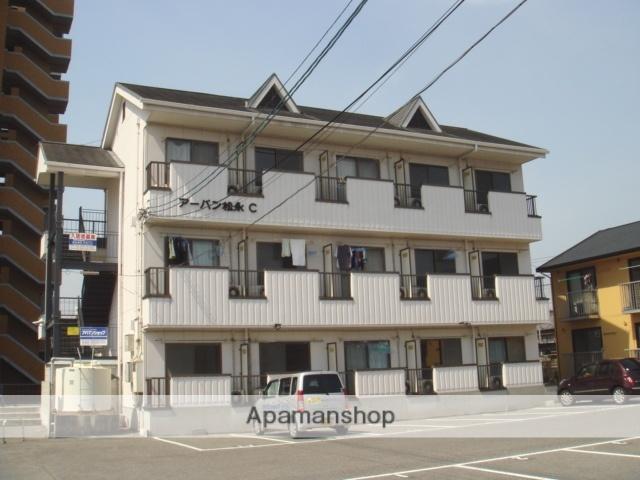 広島県福山市、備後赤坂駅徒歩58分の築25年 3階建の賃貸アパート