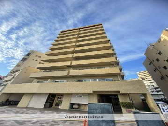 広島県広島市中区、日赤病院前駅徒歩4分の築26年 12階建の賃貸マンション