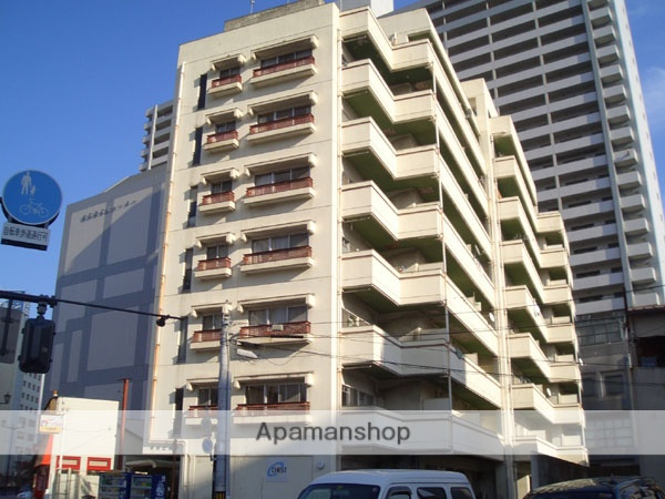 広島県広島市西区、横川駅徒歩6分の築33年 9階建の賃貸マンション