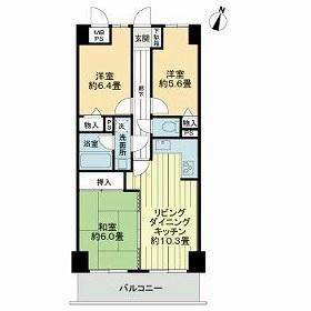 ライオンズマンション古江西[3LDK/62.6m2]の間取図