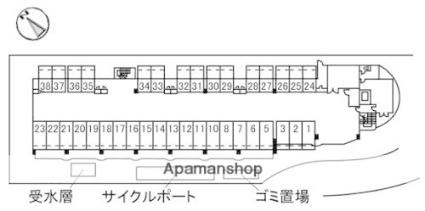 カーサ古江[3LDK/70.67m2]の配置図