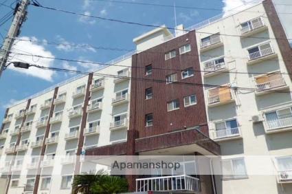 広島県広島市東区、広島駅徒歩25分の築46年 6階建の賃貸マンション