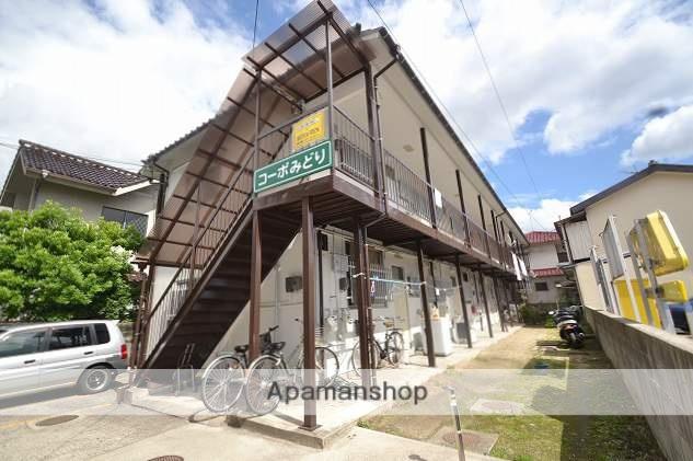 広島県広島市南区、県病院前駅徒歩13分の築40年 2階建の賃貸アパート