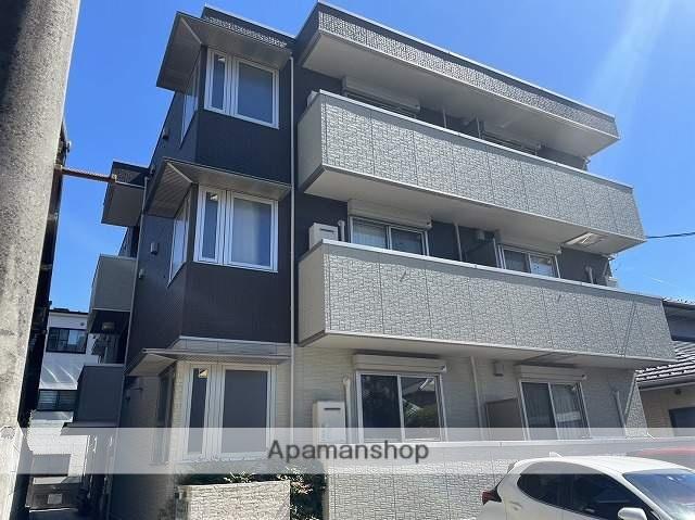 広島県広島市南区、県病院前駅徒歩10分の新築 3階建の賃貸アパート