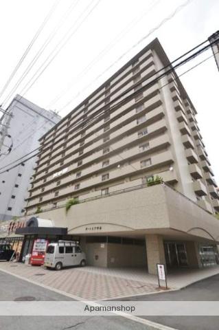 広島県広島市南区、元宇品口駅徒歩4分の築25年 14階建の賃貸マンション