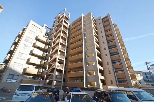 広島県広島市中区、土橋駅徒歩3分の築33年 12階建の賃貸マンション
