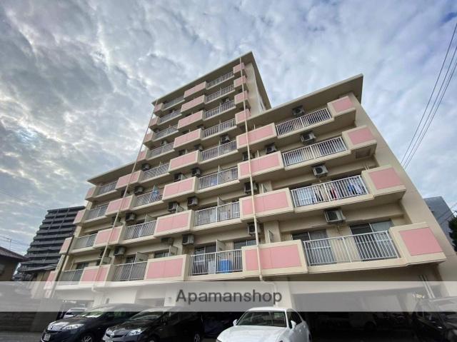 広島県福山市、福山駅徒歩10分の築29年 9階建の賃貸マンション