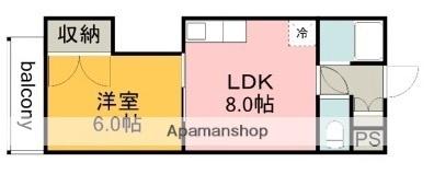 コーワレジデンス[1LDK/29.1m2]の間取図