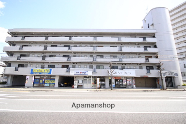 広島県広島市東区、新白島駅徒歩15分の築28年 5階建の賃貸マンション