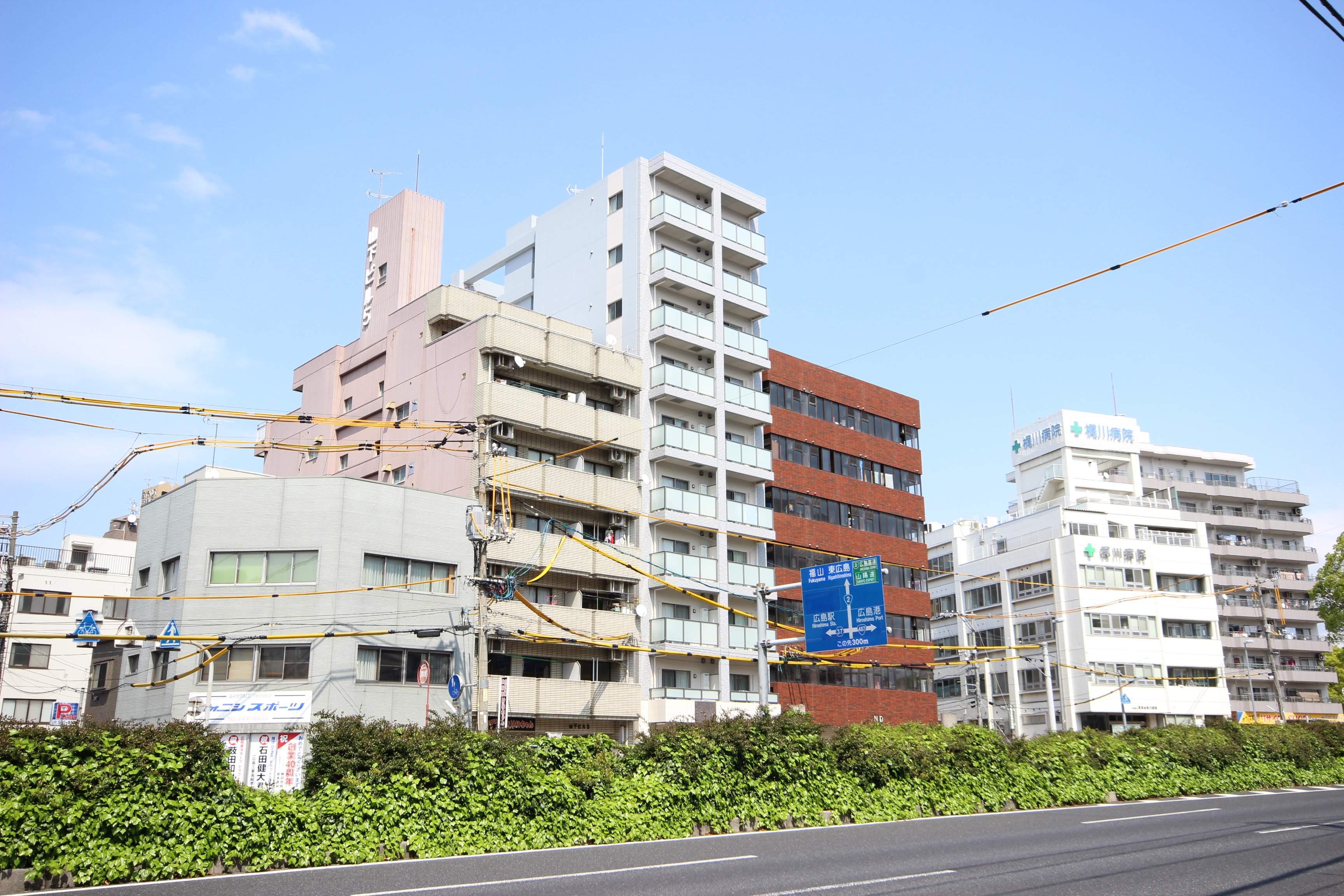 広島県広島市中区、比治山橋駅徒歩7分の築1年 10階建の賃貸マンション