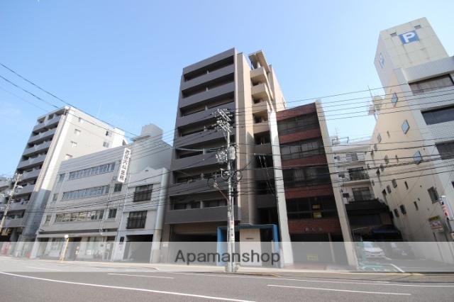 広島県広島市中区、日赤病院前駅徒歩11分の築13年 9階建の賃貸マンション