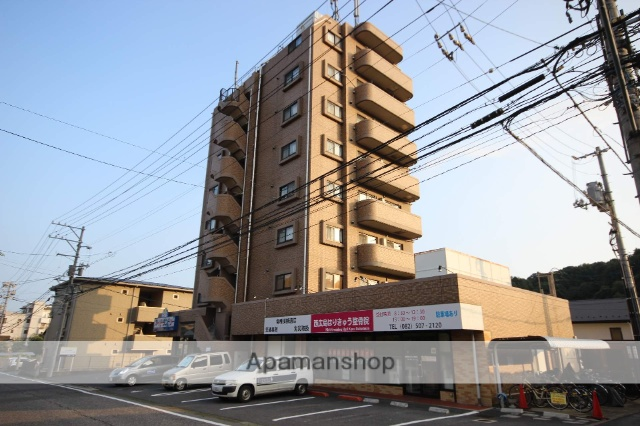 広島県広島市西区、西広島駅徒歩8分の築15年 8階建の賃貸マンション