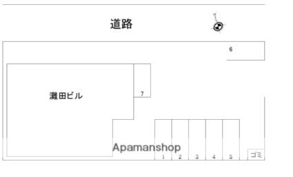 灘田ビル[2DK/39.74m2]の配置図