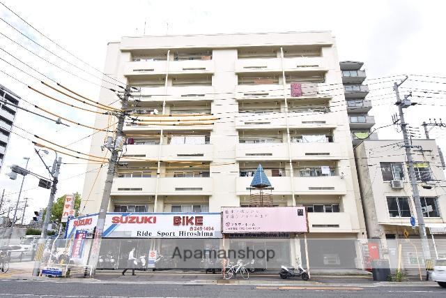 広島県広島市中区、新白島駅の築31年 7階建の賃貸マンション