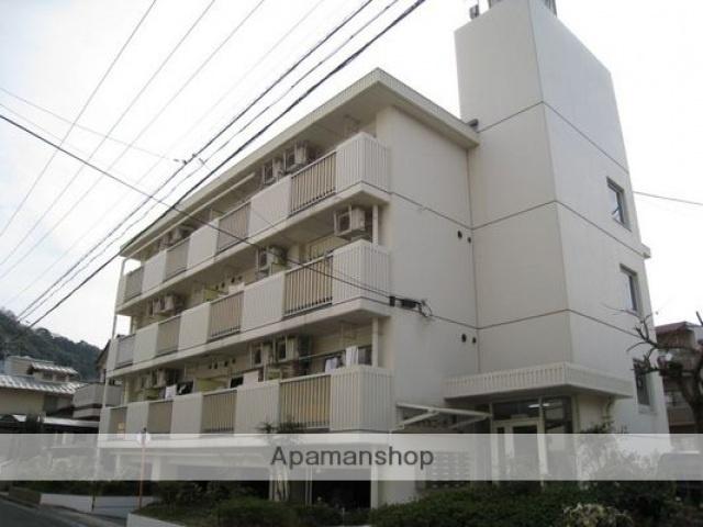広島県広島市東区、新白島駅徒歩17分の築35年 4階建の賃貸マンション