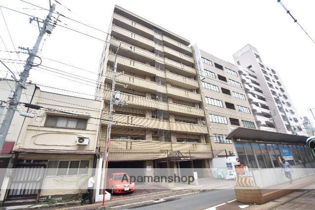 広島県広島市南区、元宇品口駅徒歩6分の築28年 9階建の賃貸マンション