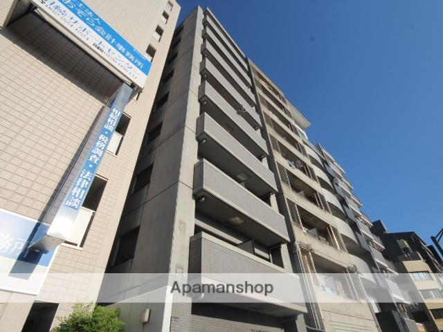 広島県広島市中区、縮景園前駅徒歩4分の築21年 9階建の賃貸マンション