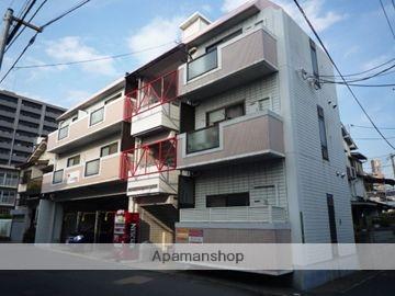 広島県広島市南区、県病院前駅徒歩7分の築25年 4階建の賃貸マンション