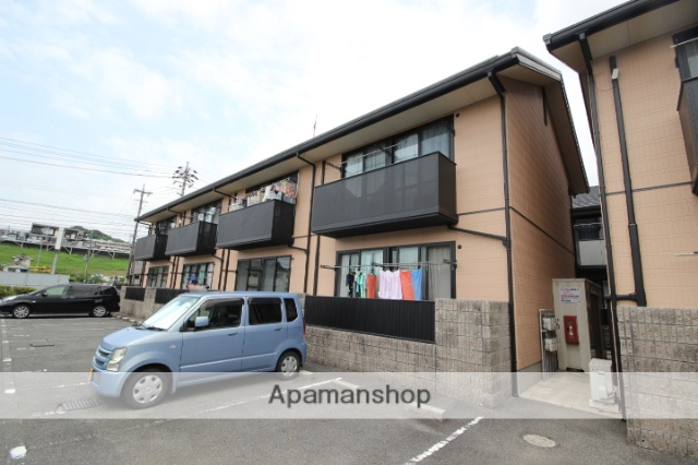 広島県広島市安佐南区、伴中央駅徒歩7分の築18年 2階建の賃貸アパート