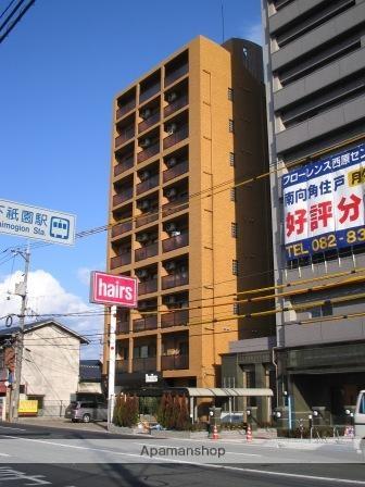 広島県広島市安佐南区、下祇園駅徒歩9分の築18年 9階建の賃貸マンション