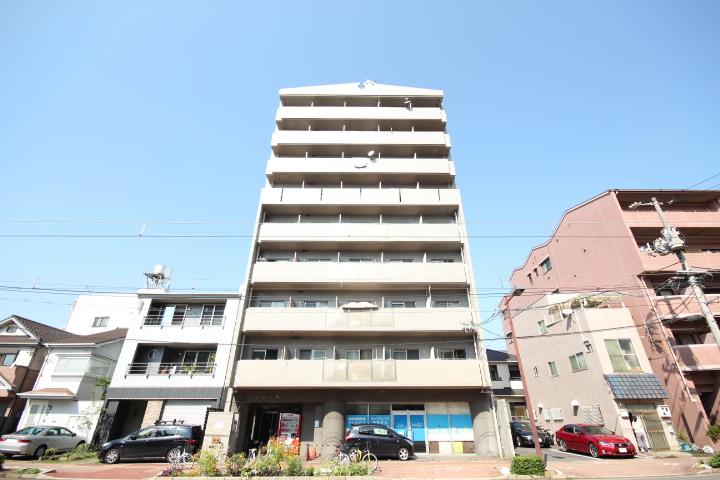 広島県広島市南区、広島港(宇品)駅徒歩5分の築26年 9階建の賃貸マンション