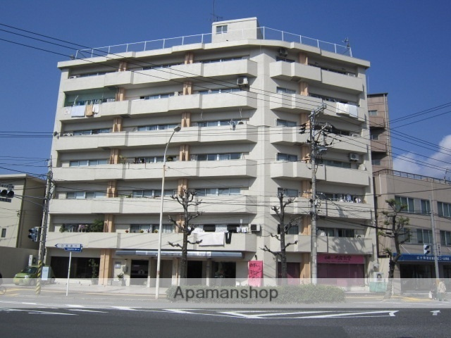 広島県広島市中区、新白島駅徒歩8分の築41年 7階建の賃貸マンション