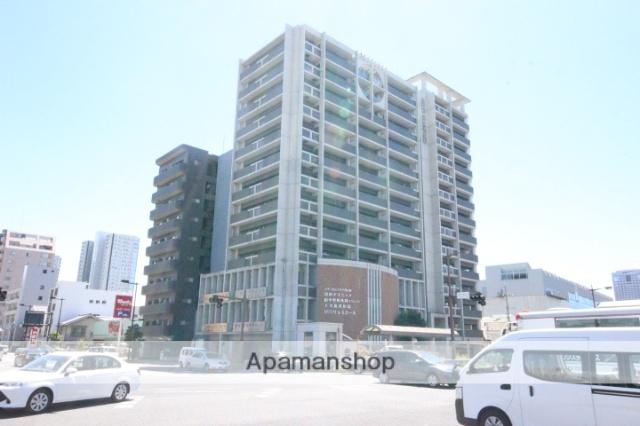 広島県広島市中区、新白島駅徒歩5分の築13年 15階建の賃貸マンション
