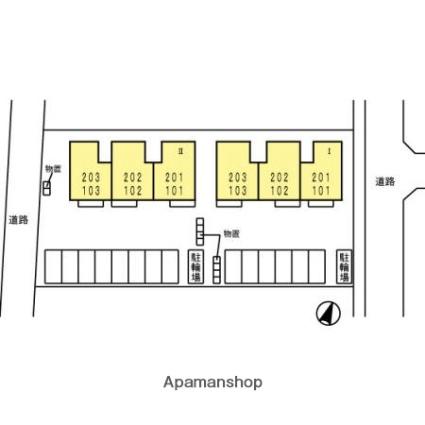 ウィステリアⅡ[3DK/59.28m2]の配置図