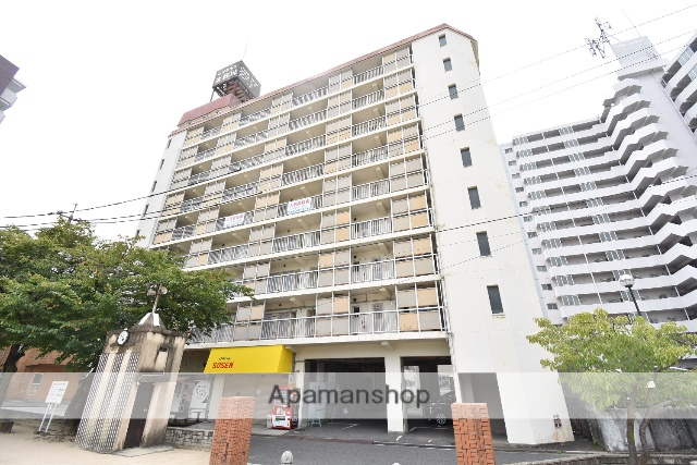 広島県広島市中区、小網町駅徒歩9分の築37年 9階建の賃貸マンション