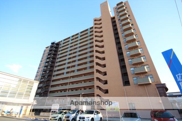広島県広島市南区、県病院前駅徒歩7分の築28年 15階建の賃貸マンション
