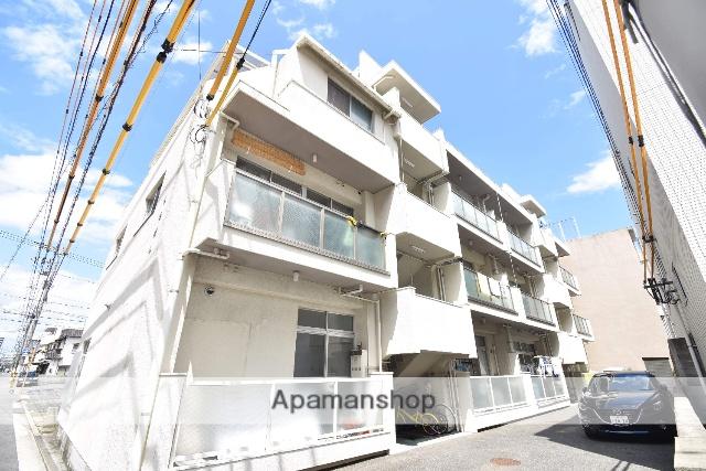 広島県広島市中区、舟入南町駅徒歩5分の築40年 3階建の賃貸マンション