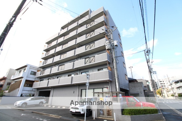 広島県広島市中区、新白島駅徒歩4分の築16年 7階建の賃貸マンション