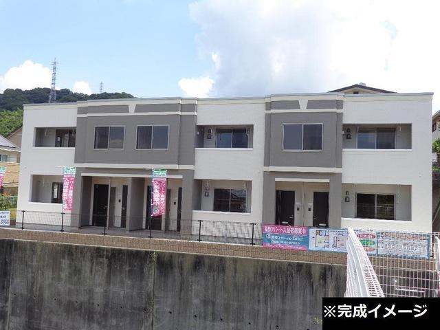 山口県周南市、櫛ケ浜駅徒歩12分の新築 2階建の賃貸アパート
