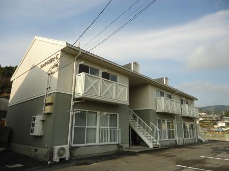 山口県光市の築22年 2階建の賃貸アパート
