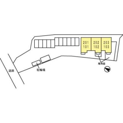 山口県光市室積西ノ庄[1LDK/51.15m2]の配置図