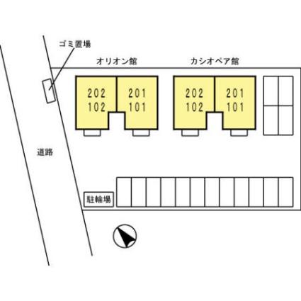 スターパレス下松 オリオン館[3DK/52.16m2]の配置図