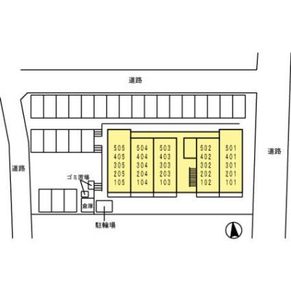 シティパルFUJU[1R/28.13m2]の配置図