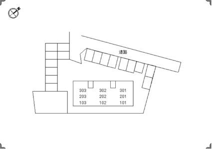 トリヴァンベール今井町[3LDK/65.46m2]の配置図