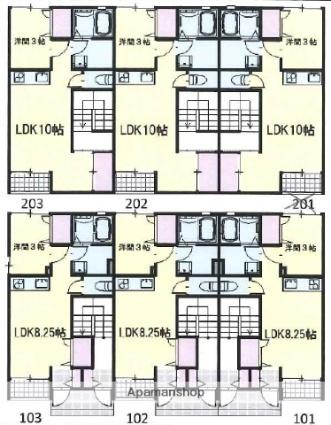 ハイツヒロ[1LDK/39.75m2]の間取図