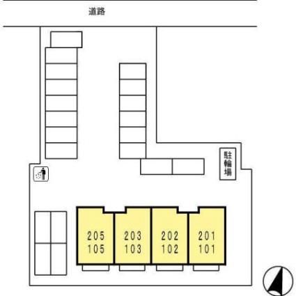 ラ・フェリシタ[2DK/59.98m2]の配置図