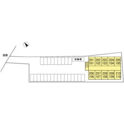 グリーンハイム[1K/18.26m2]の配置図