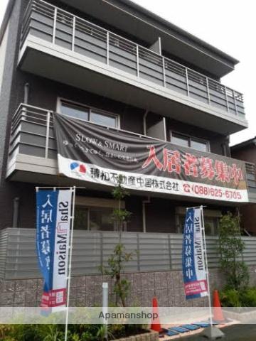 徳島県徳島市、蔵本駅徒歩6分の築3年 3階建の賃貸マンション