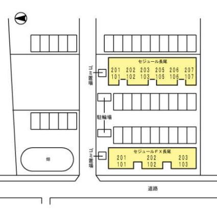 徳島県徳島市川内町榎瀬[1LDK/55.4m2]の配置図