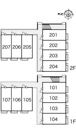 レオパレスWestⅡ[1K/23.18m2]の内装2