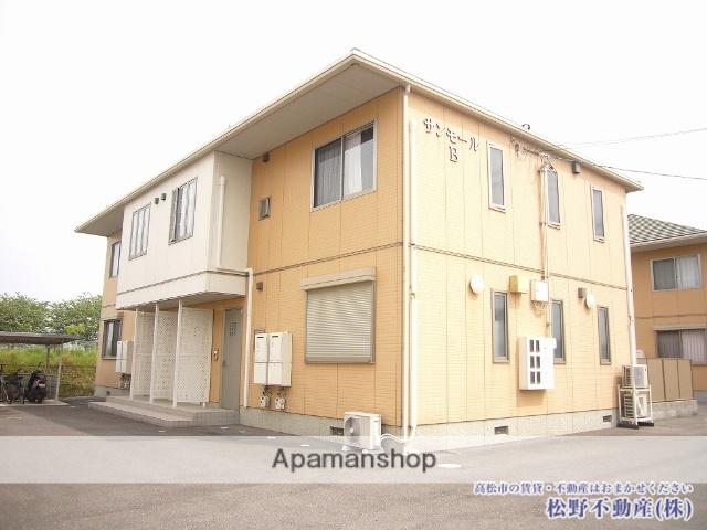 香川県高松市、仏生山駅徒歩23分の築10年 2階建の賃貸アパート