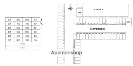 香川県高松市伏石町[2LDK/66m2]の配置図